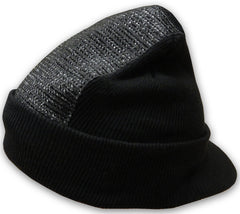 Head Spin Beanie With Visor - BBOY Headspin Beanie With Visor (Black/Black)