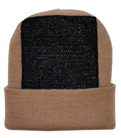 Head Spin Beanies - BBOY Headspin Break Dance Beanie (Khaki / Black)