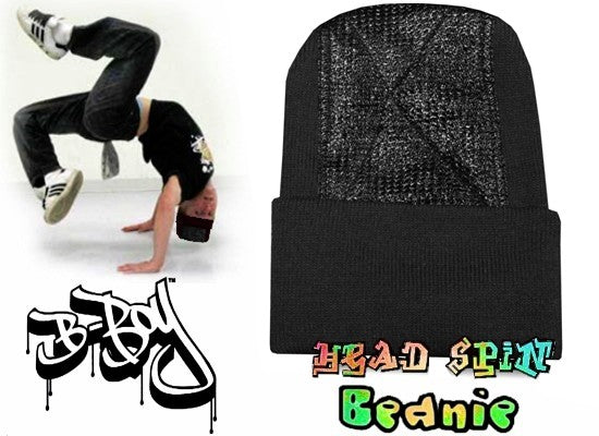 Head Spin Beanies - BBOY Headspin Break Dance Beanie (Purple / Black)