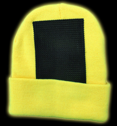 e128dc6cb9d Head Spin Beanies - Neon Yellow Black Light Reactive Headspin Beanie