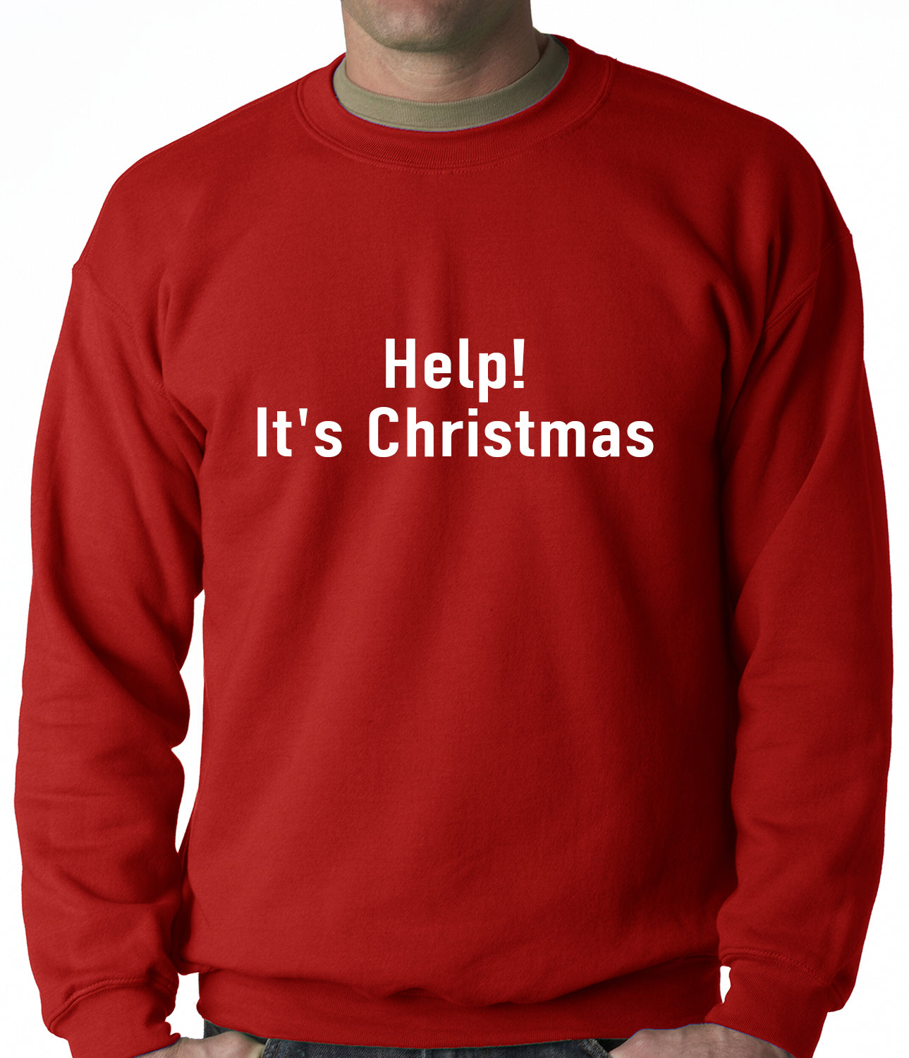 Help! It's Christmas Funny Holiday Adult Crewneck