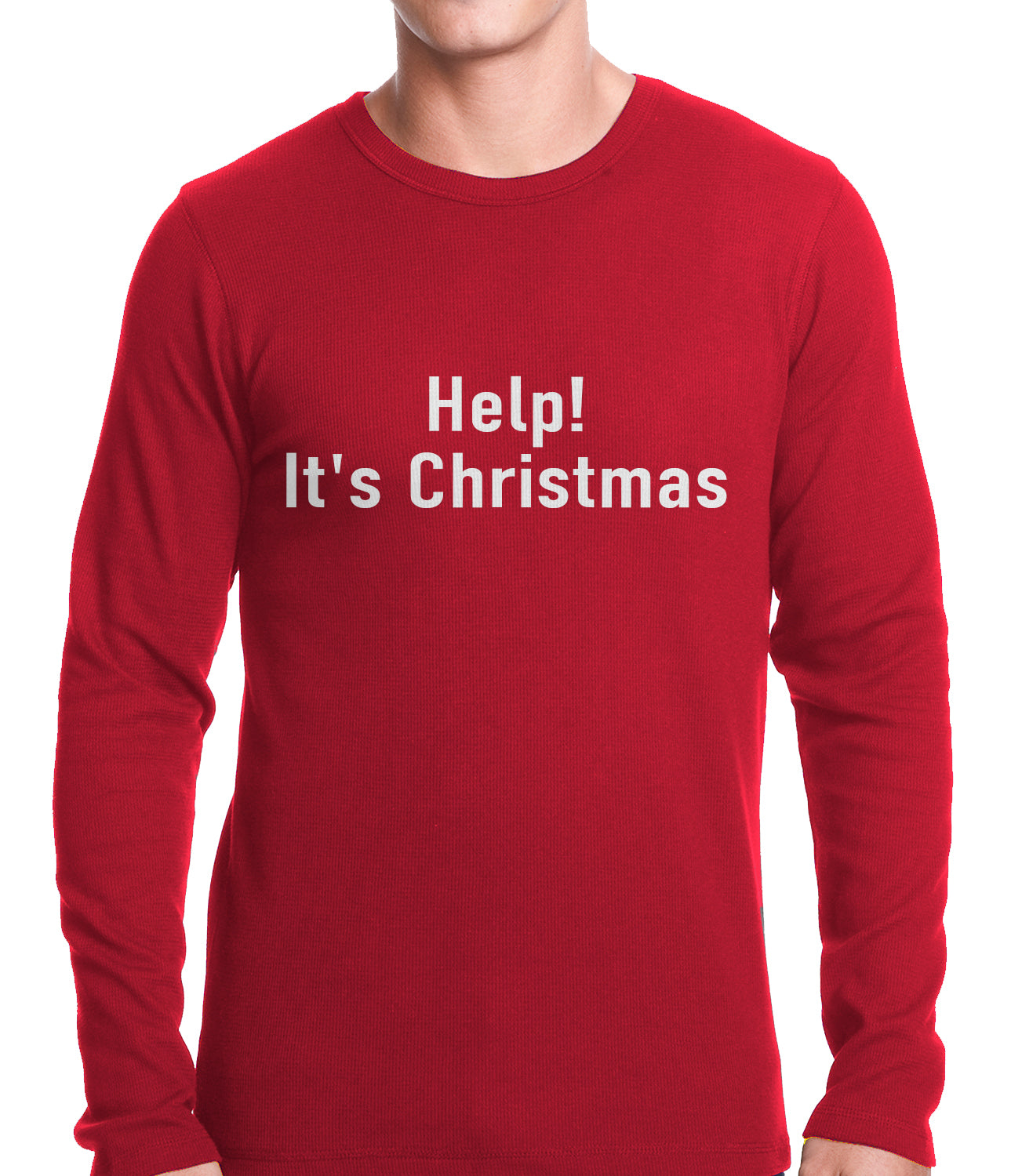 Help! It's Christmas Funny Holiday Thermal Shirt