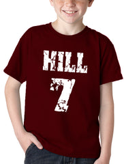 Hill #7 in Texas A&M Colors Kid's T-Shirt