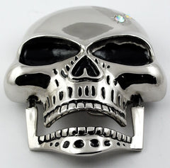Hinged Jaw Skull Buckle With FREE Leather Belt