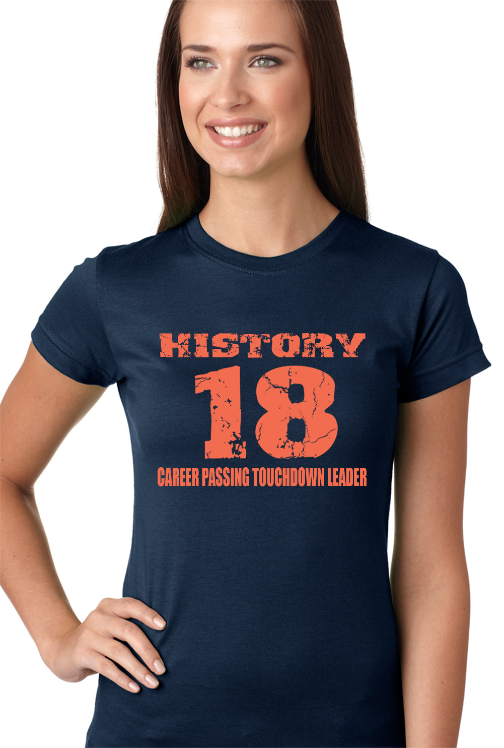 History 18 Manning Record Breaking Girls T-shirt