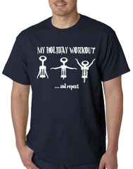 Holiday Workout Funny Mens T-shirt