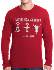 Holiday Workout Funny Thermal Longsleeve Shirt