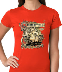 Hot Babes and Cold Beer Biker Ladies T-shirt
