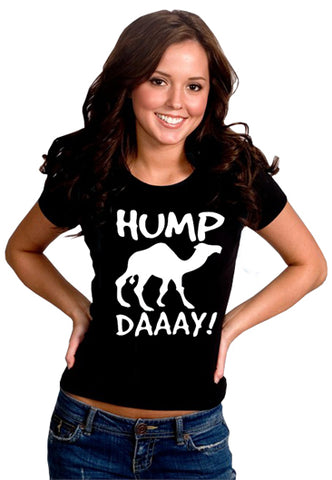 Hump Day Camel Girl's T- Shirt (Black)