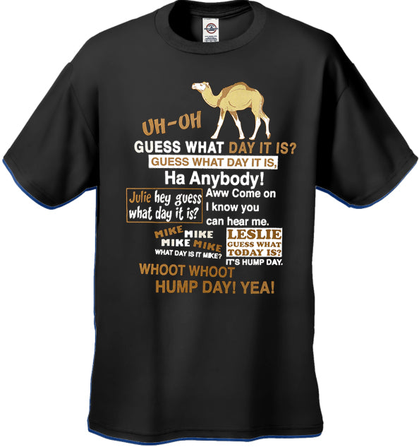 Hump Day Camel Kid's T-Shirt (Brown & White Print)