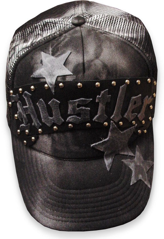 "Hustler  Limited Edition ""Star"" Leather Accent Trucker Hat"