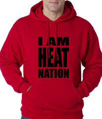 I Am Heat Nation Basketball Adult Hoodie