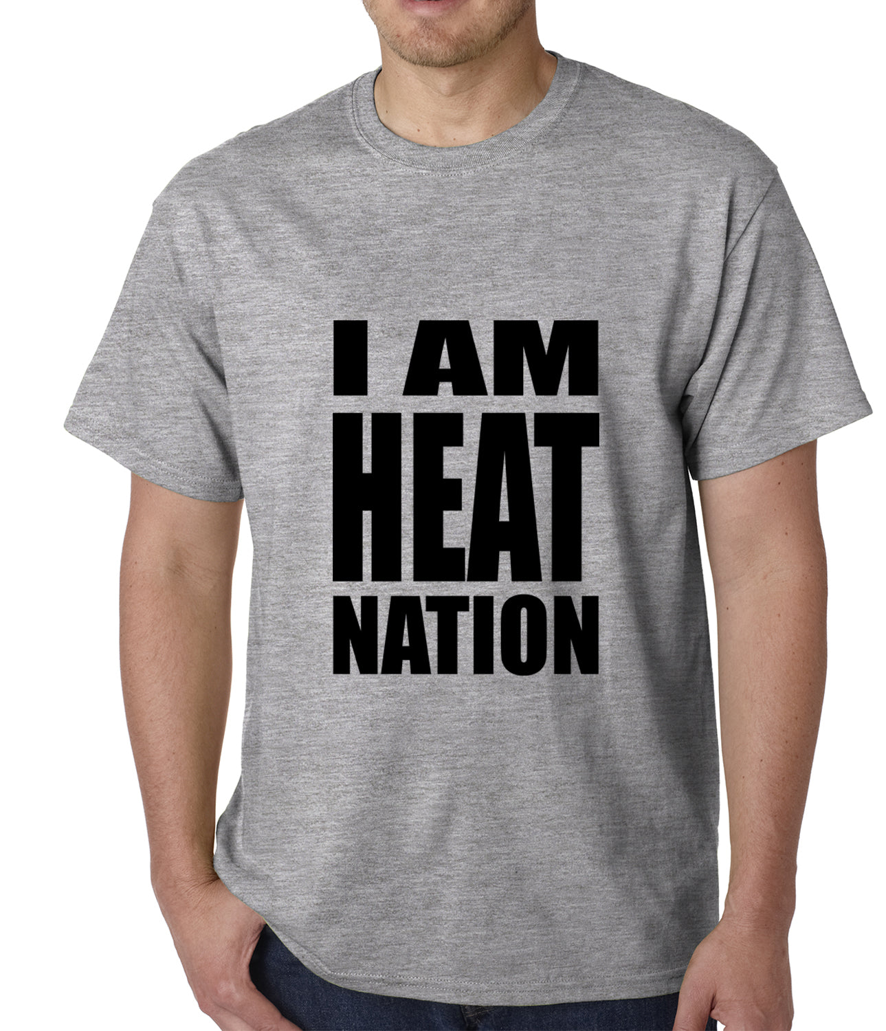 I Am Heat Nation Basketball Mens T-shirt
