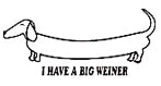 I Have A Big Weiner T-Shirt