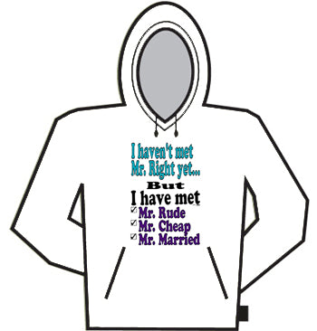 I Haven't Met Mr. Right Yet...Hoodie