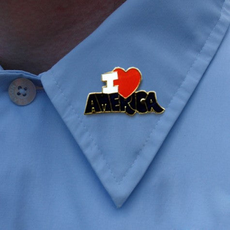 I Love America Lapel Pin