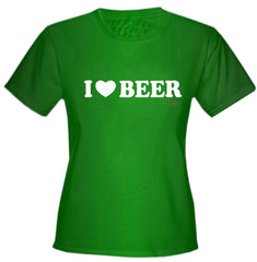 I Love Beer Girls T-Shirt