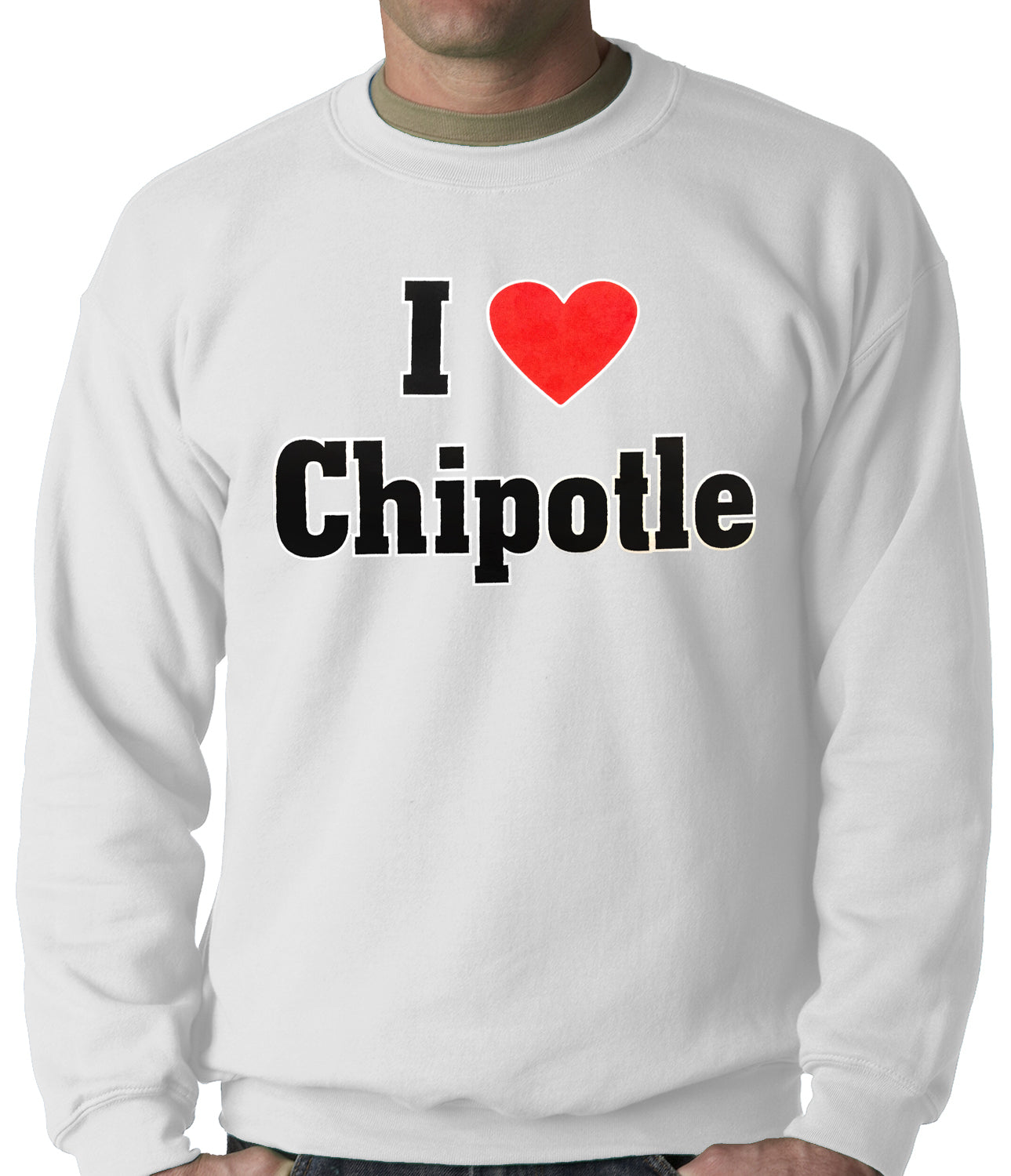 I Love Chipotle Adult Crewneck