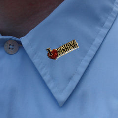I Love Fishing Lapel Pin