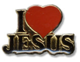 I Love Jesus Lapel Pin