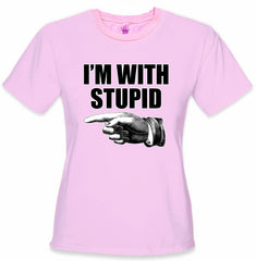 I'm With Stupid Girl's T-Shirt