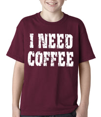 I Need Coffee Kids T-shirt