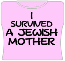 I Survived A Jewish Mother Girls T-Shirt (Pink)