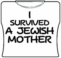 I Survived A Jewish Mother Girls T-Shirt (White)