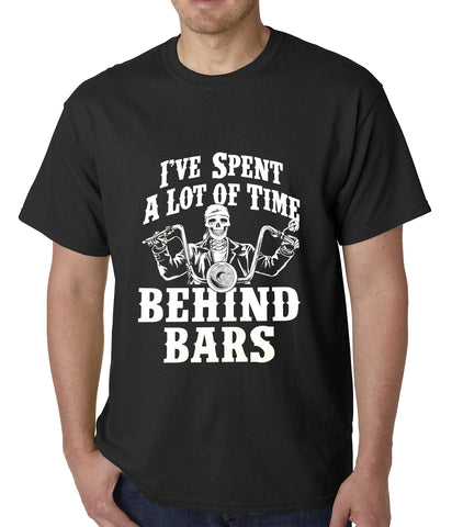 I've Spent a Lot of Time Behind Bars Mens T-shirt