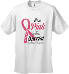 I Wear Pink For Someone Special  Men's T-Shirt