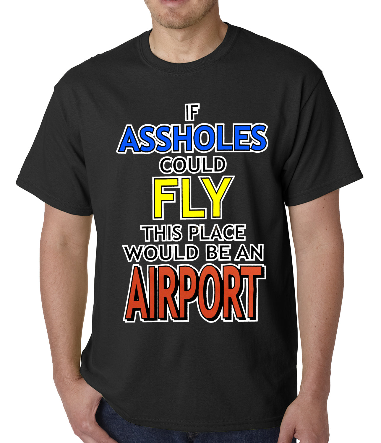 Assholes fly airport