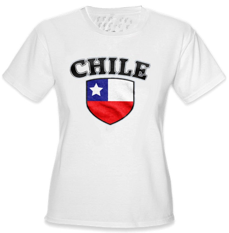 International Soccer Shirts - Chile Crest Girls T-Shirt