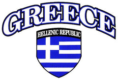 International Soccer Shirts - Greece Crest T-Shirt (Mens)