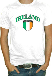 International Soccer Shirts - Ireland Crest T-Shirt (Mens)