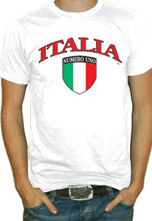 International Soccer Shirts - Italia Crest T-Shirt (Mens)