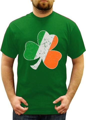 Irish Colors Vintage Distressed Shamrock Men's T-Shirt