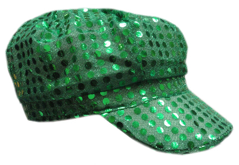 Irish Green Sequin Newsboy Party Hat