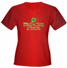 Irish License To Drink Girls T-Shirt
