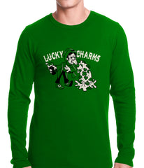 Irish Lucky Charms Funny Drinking Thermal Shirt