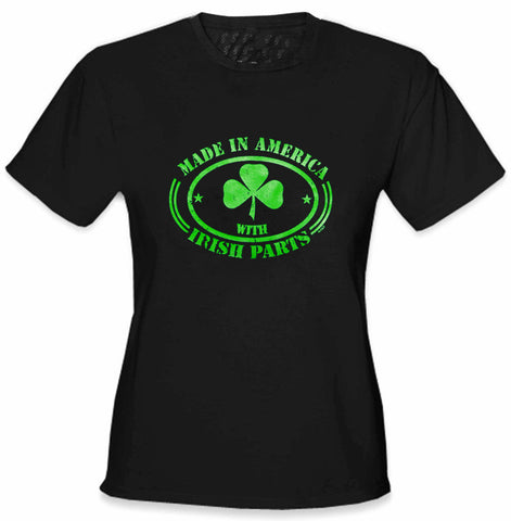 Irish Made In America With Irish Parts Ladies T-Shirt