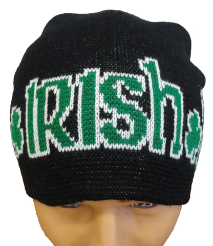 Irish Shamrock Beanie (Black/Green)