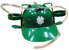 Irish Shamrock Double Beer Can Helmet