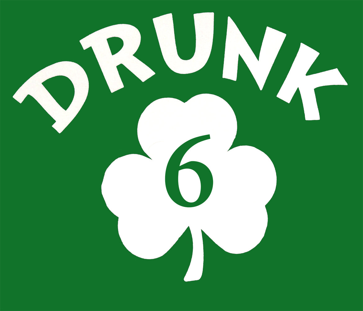 Irish Shamrock Drunk Girl's T-Shirt (Kelly Green)