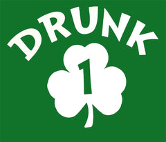 Irish Shamrock Drunk Men's T-Shirt (Kelly Green)