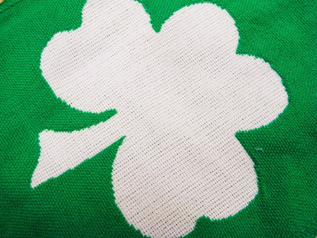 Irish Shamrock Good Luck Reversible Scarf
