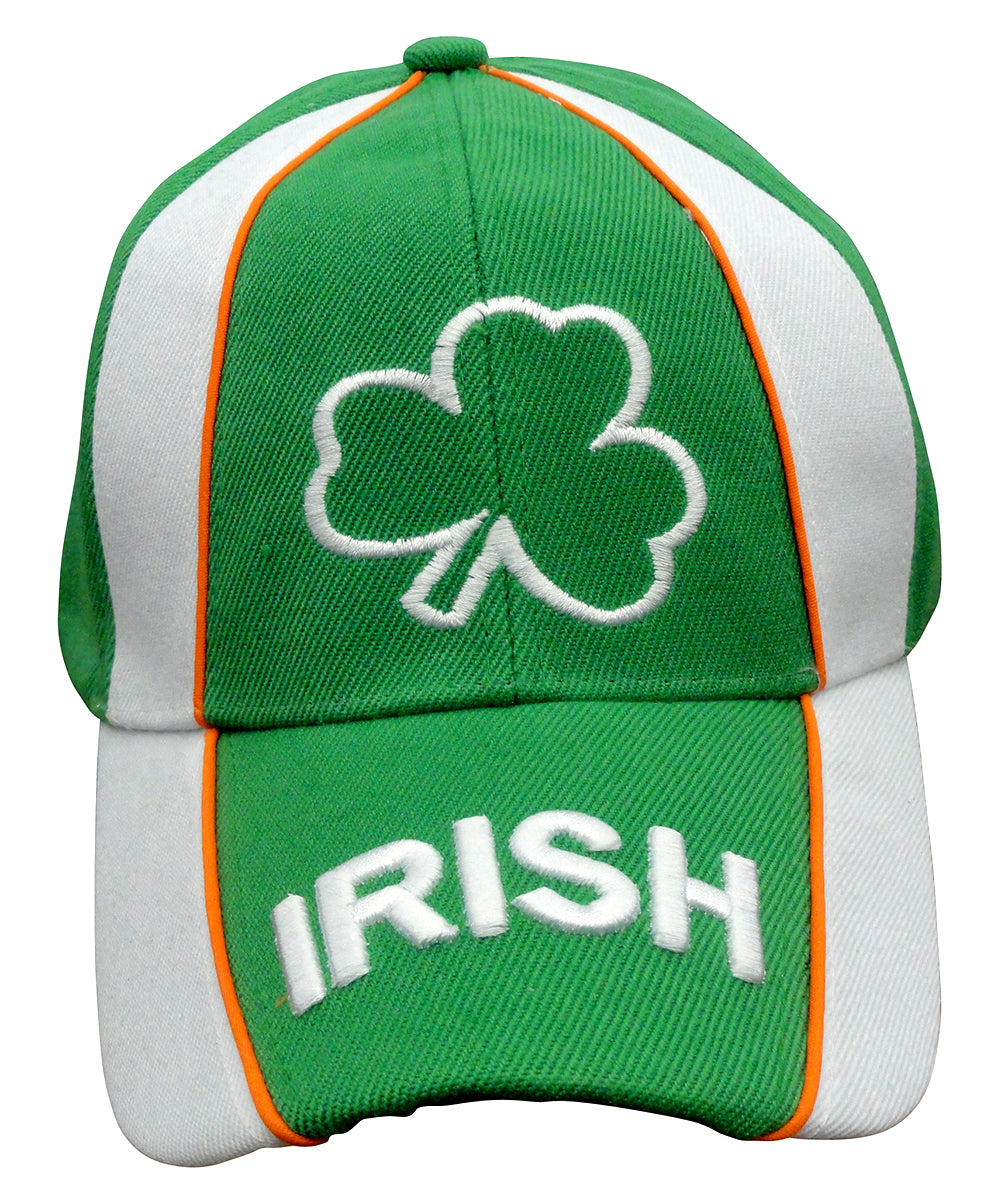 Irish Shamrock Tri Color Adjustable Baseball Hat