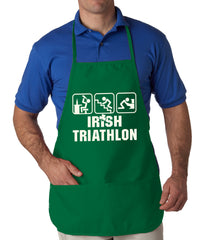 Irish Triathlon Funny St. Patrick's Day Apron