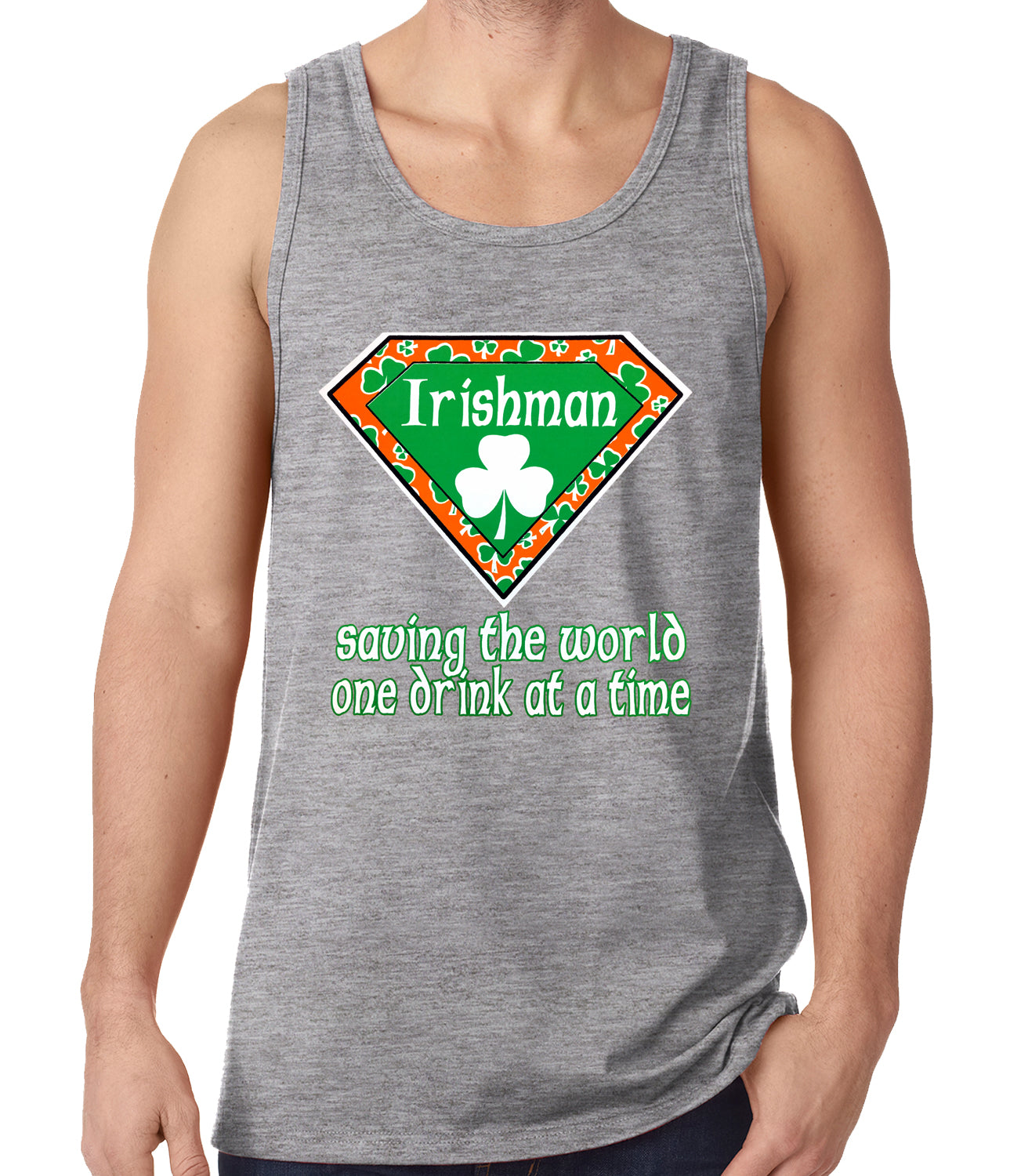 Irishman Saving The World One Drink At a Time Tank Top