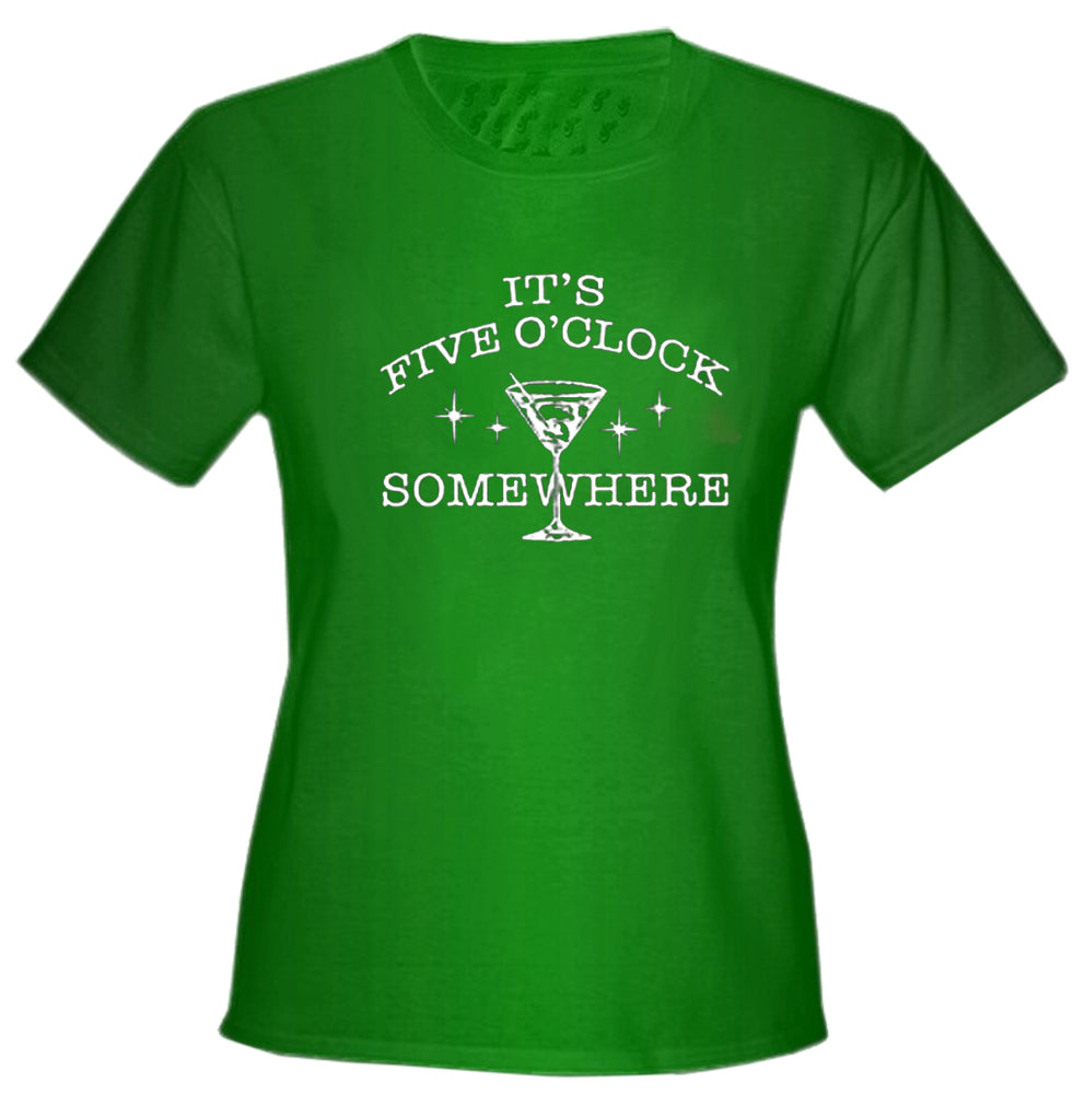 It's 5 O'clock Somewhere Girls T-Shirt