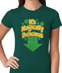 It's Magically Delicious Irish Shamrock Girls T-shirt